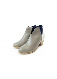 [The Deep] 深海主題鞋Benthodesmus-叉尾深海帶魚-灰/白/藍-撞色踝靴