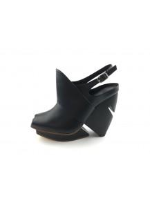 [The Deep] 深海主題鞋-歐氏劍吻鯊-黑-腳背立體設計魚口鞋