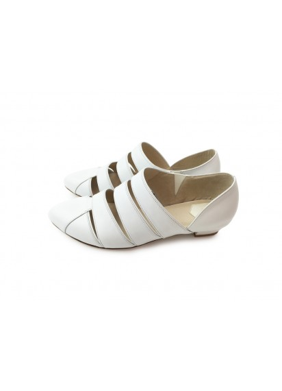 [The Deep] 深海主題鞋-發光海參-全白-條帶設計涼鞋